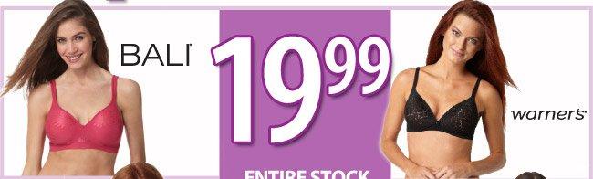 $19.99 Select Bras
