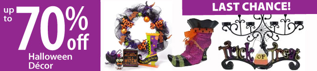 Save up to 70% off Halloween Decor