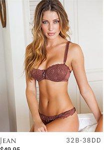 Jean lingerie set - sizes 32B-38DD