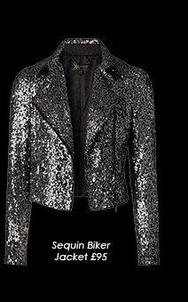 Sequin Biker Jacket Kardashian