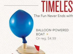 Balloon-Powered Boat