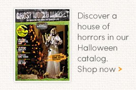 Discover a house of horrors in our Halloween catalog.