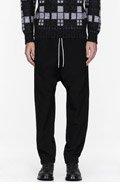 UMIT BENAN Black low-rise lounge pants for men