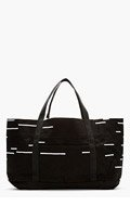 RICK OWENS DRKSHDW Black & White Canvas Extra Large Tote for men