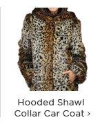 Hooded Shawl Collar Car Coat