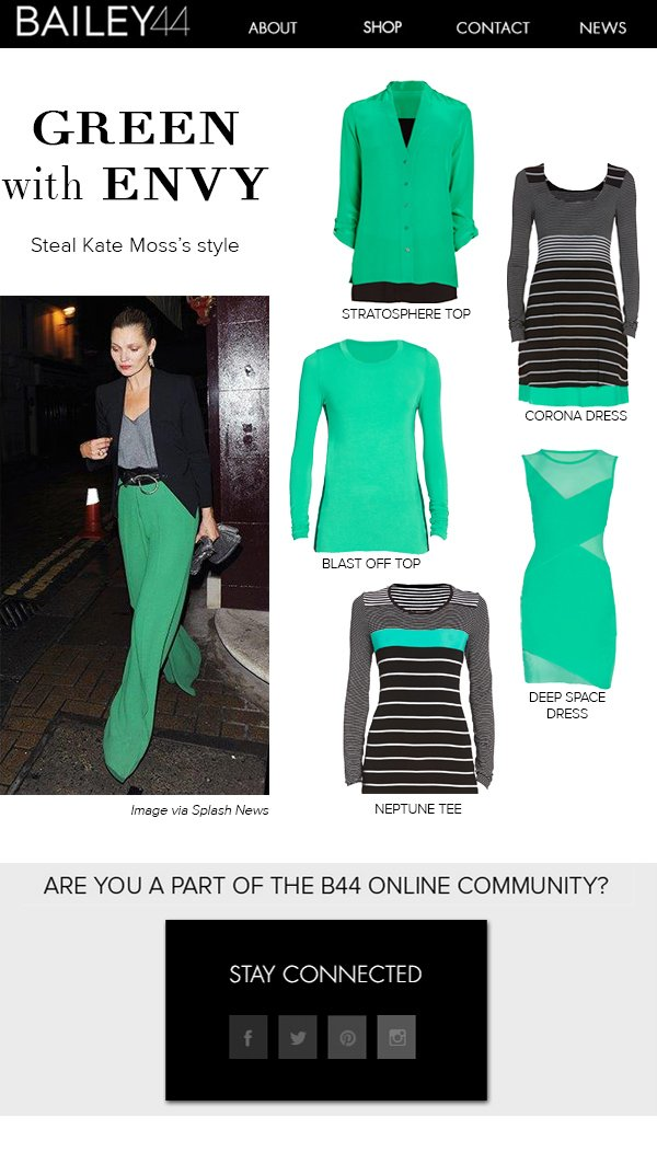 GREEN with ENVY Steal Kate Moss's style