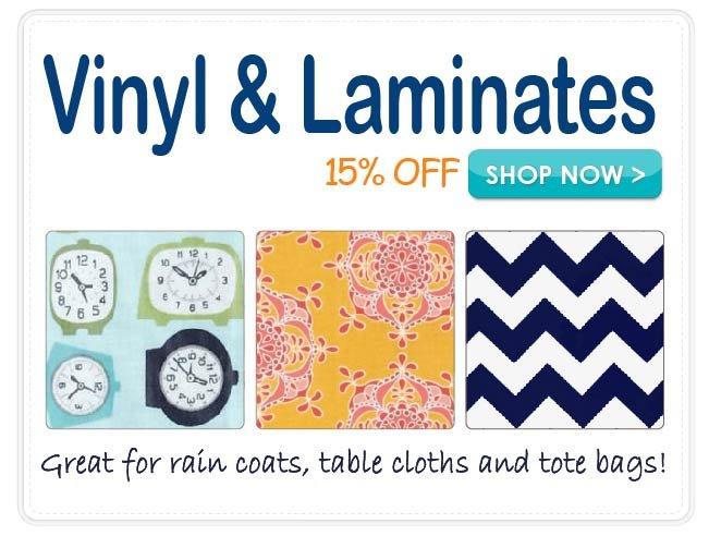 15% off Vinyl & Laminates