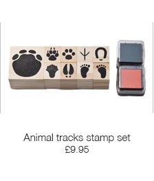 Animal tracks stamp set