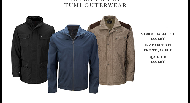 Introducing TUMI Outerwear - Shop Now