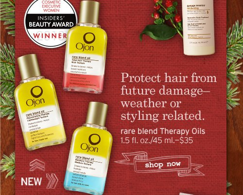 Protect hair from future damage weather or styling related rare blend Therapy Oils SHOP NOW