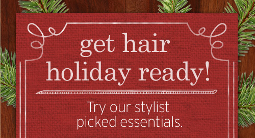 get  hair holiday ready Try our stylist picked essentials