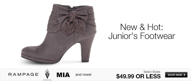 New and Hot Juniors Footwear