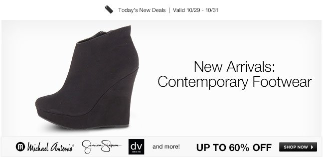 New Arrivals: Contemporary Footwear