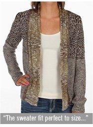 BKE Reverse Jacquard Cardigan Sweater
