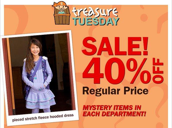 Treasure Tuesday 40 percent off