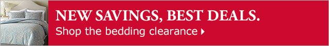 Shop the bedding clearance