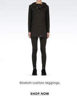 STRETCH-COTTON LEGGINGS