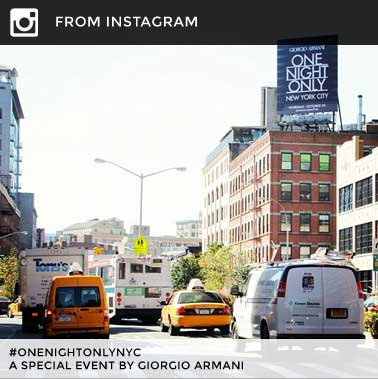 FROM INSTAGRAM #onenightonlynyc A special event by Giorgio Armani