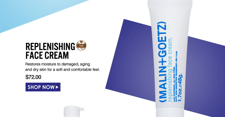Replenishing Face Cream  Restores moisture to damaged, aging and dry skin for a soft and comfortable feel. $72.00 Shop Now>>