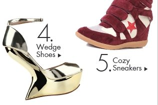 wedge shoes and sneakers