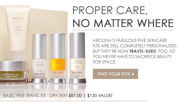 Arcona's Fabulous Five Skincare Kits in Travel-Size Now!