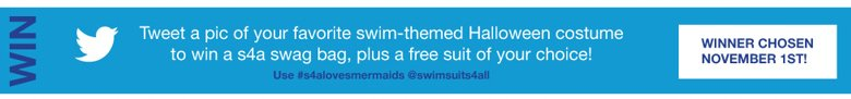 tweet a pic of your favorite swim-themed Halloween Costume to win