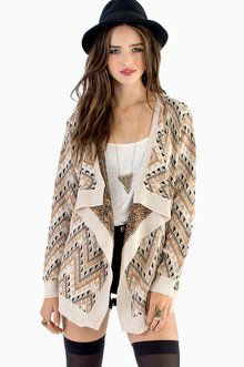 NO TROUBLE WITH TRIBAL CARDIGAN 58
