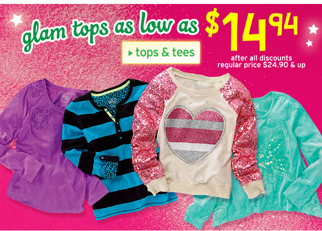 glam tops