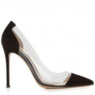 GIANVITO ROSSI - Perspex and suede pumps