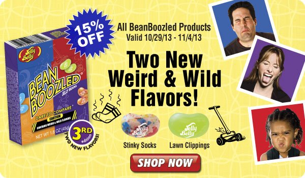 Take 15% off BeanBoozled products