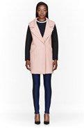 MSGM Pink Neoprene-sleeve coat for women