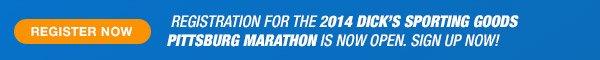 Register for the 2014 Dick's Sporting Goods Pittsburgh Marathon - Promo B