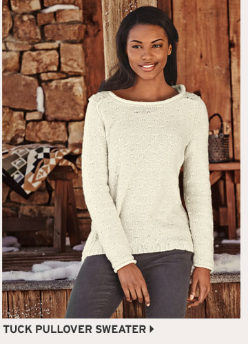 Shop Tuck Stitch Pullover Sweater