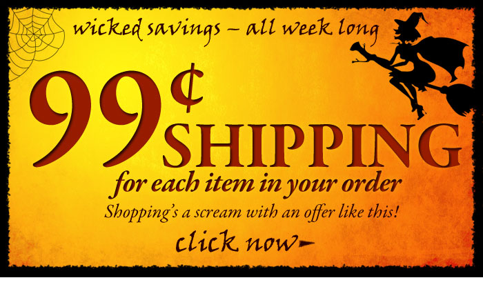 99¢ shipping for each item in your order! Click to shop now.