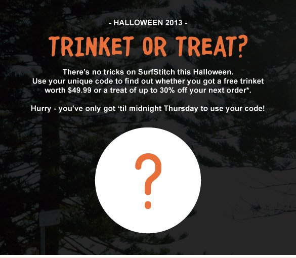 Trinket or Treat?