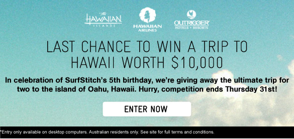 WinA Trip To Hawaii Worth $10,000 - Enter Now