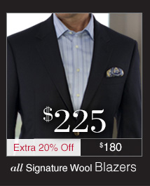 Signature Wool Blazers $225 USD plus Extra 20% Off