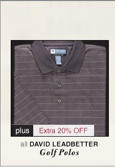 David Leadbetter Golf Polos - 60% Off* plus Extra 20% Off