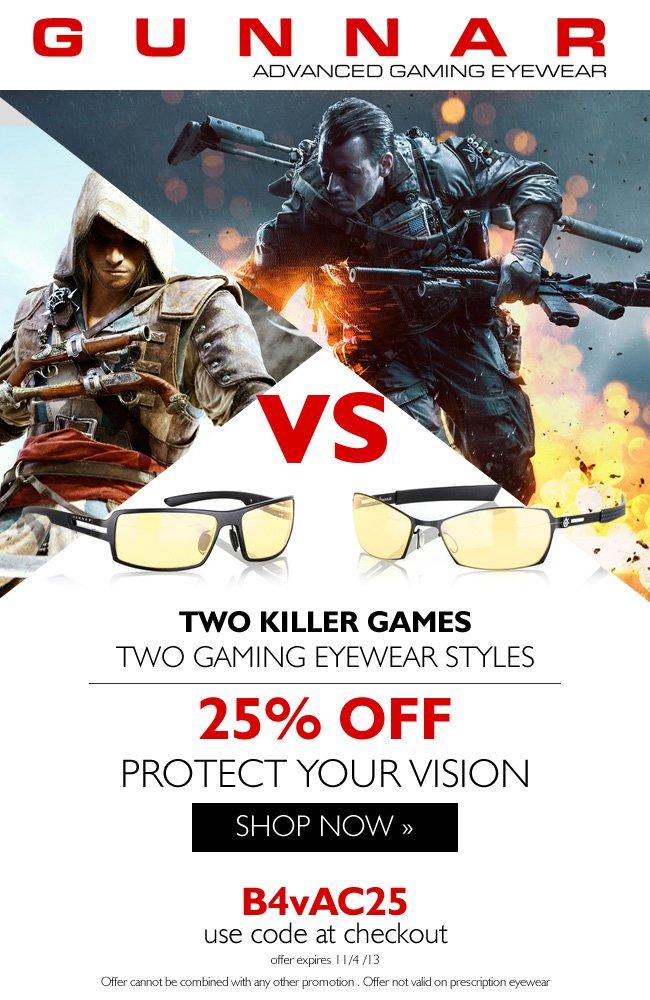 Pick Your Side | Save 25% on GUNNAR eyewwear