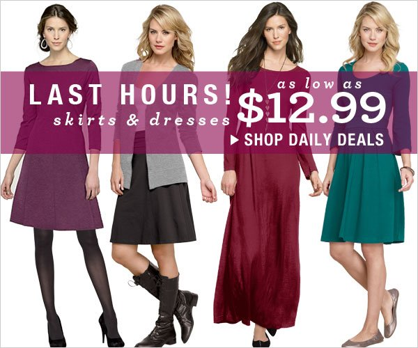 Skirts & Dresses as low as $12.99