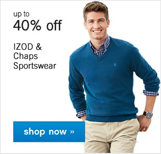 Up to 40% off Izod and Chaps Sportswear. Shop now.