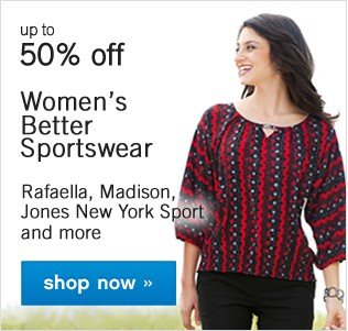 Up to 50% off Women's Sportswear. Shop now.
