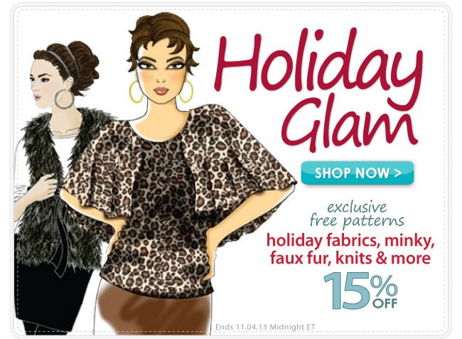 15% off Holiday Glam Apparel Sale