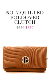 NO. 7 QUILTED FOLDOVER CLUTCH