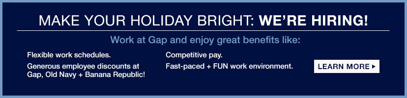 MAKE YOUR HOLIDAY BRIGHT: WE'RE HIRING! | LEARN MORE