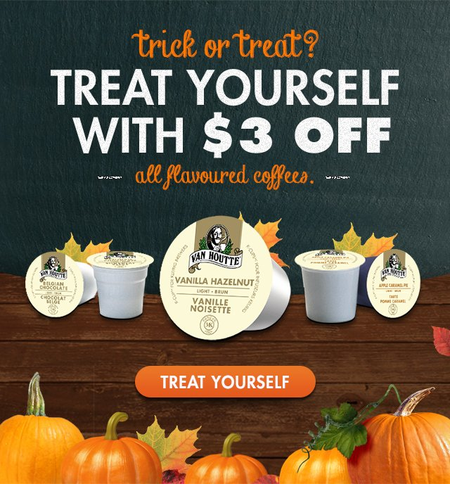 Save $3 on all flavoured coffees.