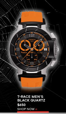 T-Race Men's Black Quartz $650 Shop Now