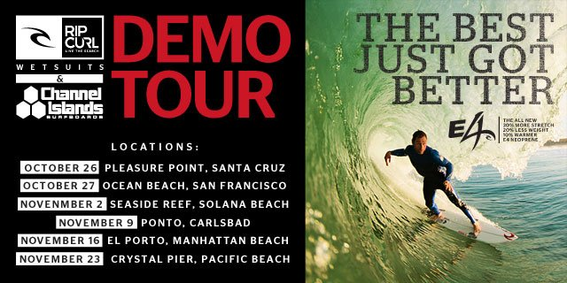 Rip Curl Wetsuits & Channel Island Surfboards Demo Tour