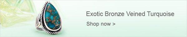 Exotic Bronze Veined Turquoise
