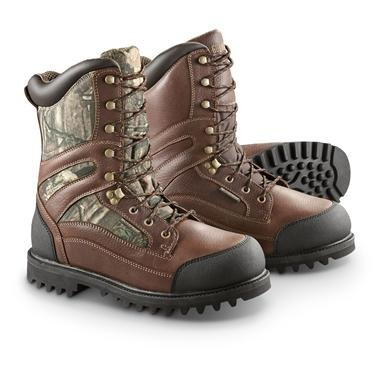 """Men's Guide Gear® 10"""" Brushtough Waterproof 1,000 gram Thinsulate™ Ultra Insulated Hunting Boots"""